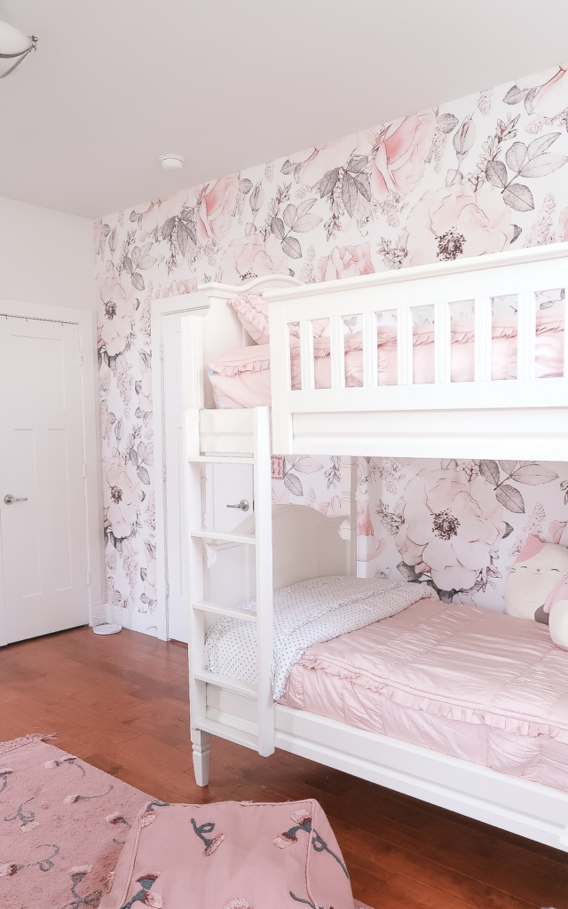 Girls Floral And Blush Pink Bedroom For Tweens At Home With Haley